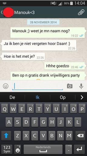Flirten op whatsapp